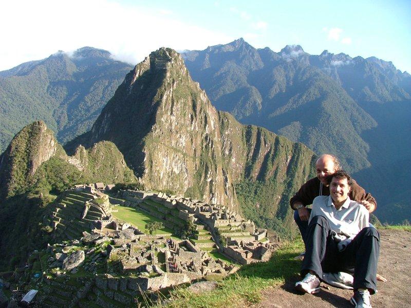 Fabio e Paolo sul Machu Picchu