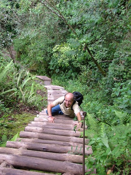 Trekking sul Putucusi, Fabio in azione