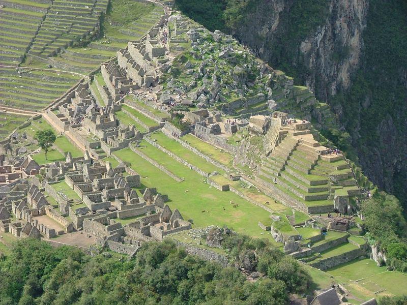 Vista del Machu Picchu dalla vetta dell'Huana Picchu