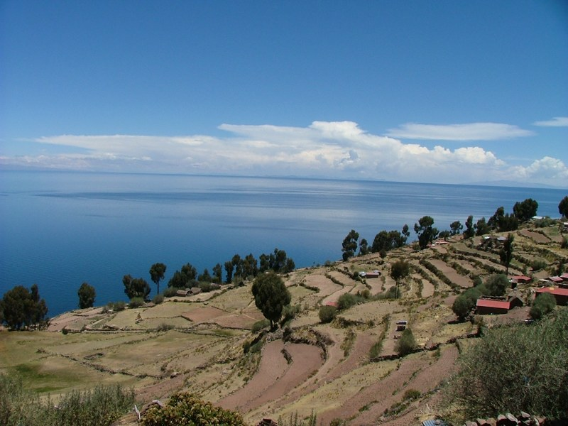 Terrazzamenti sull'Isola di Taquile, Lago Titicaca