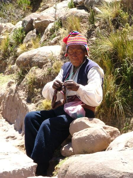 Abitanti dell'Isola di Taquile - Titicaca Perù